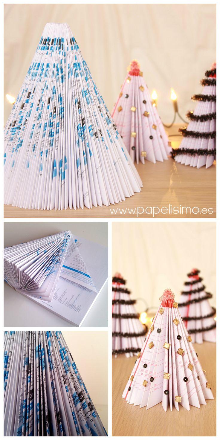 arbol de navidad con revistas christmas tree magazine