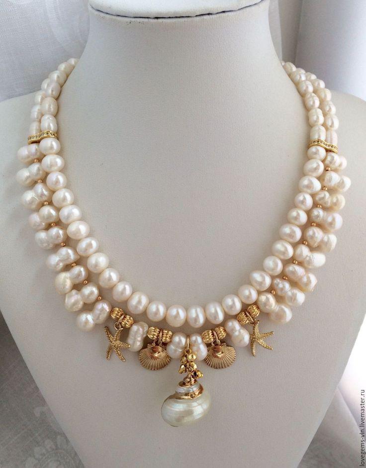 Купить Жемчужное колье SEA SOUVENIRS - колье, жемчужное колье, жемчужное ожерелье, жемчуг натуральный