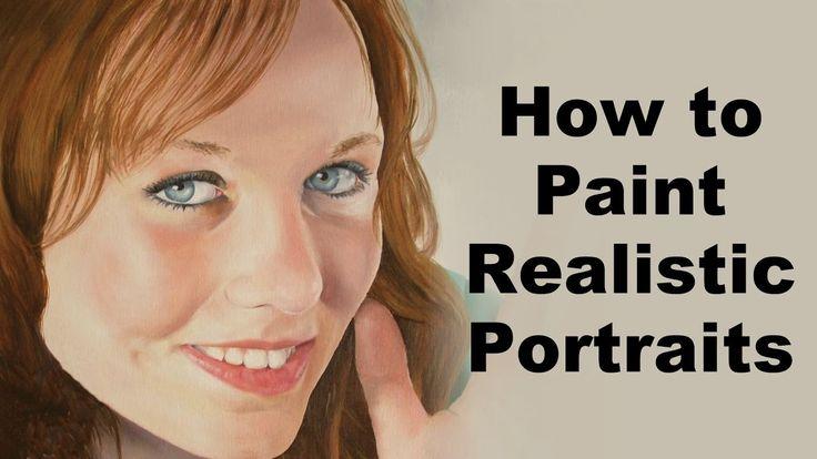 ♥ | © Realistic portrait painting secrets - How to paint portraits