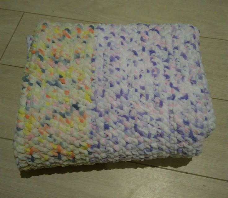Kocyk szenilowy na szydełku crochet blanket chenille | eBay