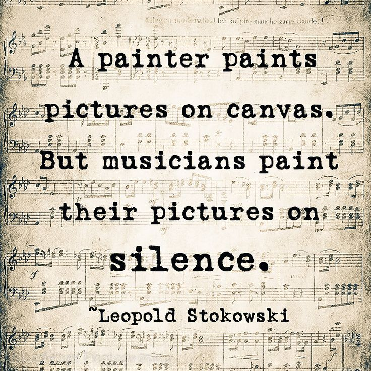 musicians paint their pictures on silence