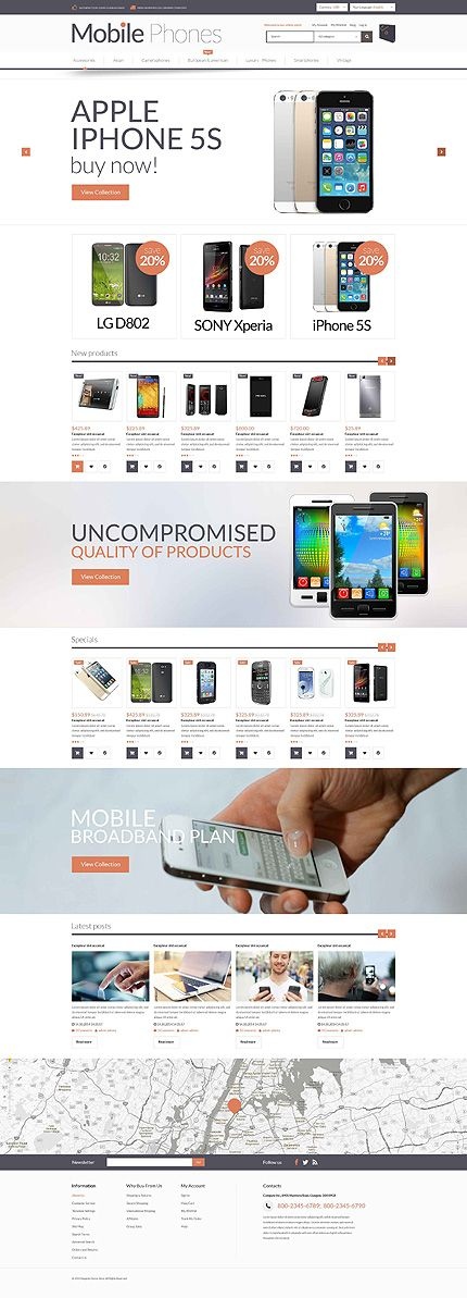 Template 52917 - Mobile Shop  Responsive Magento  Theme