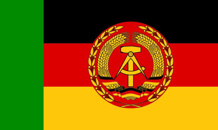 East German Border Police, boat flag Green is not a colour you expect to encounter on a German flag, but it is something you'd expect from a country under Soviet influence. See in Russia green is traditionally associated with border guards, and many...
