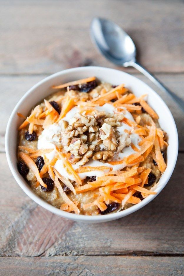 Carrot Cake Oatmeal | Community Post: 19 Drool-Worthy Ways To Up Your Oatmeal Game