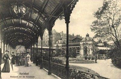 historical photos of Carlsbad Historické fotografie Karlových Varů