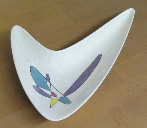 Vintage California Mobile Jawbone Serving Dish by Metlox Potteries, Scarce, 1954