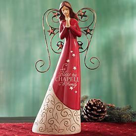 Christmas Angels   Red Angel Figurine
