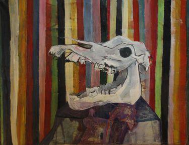 skull stell life #Art work #skull #painting #awsome