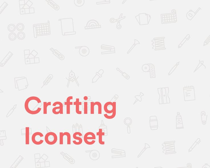 """Check out my @Behance project: """"Crafting Iconset"""" https://www.behance.net/gallery/51101639/Crafting-Iconset"""