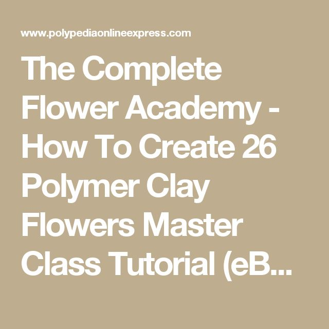 The Complete Flower Academy - How To Create 26 Polymer Clay Flowers Master Class Tutorial (eBooks+Videos+CD+Kit)