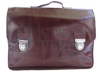 cartable Vintage cuir hua marron rouge
