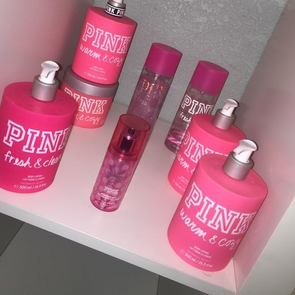 Lotions and perfume All the lotions have never been used Good condition NO TRADES PINK Victoria's Secret Accessories