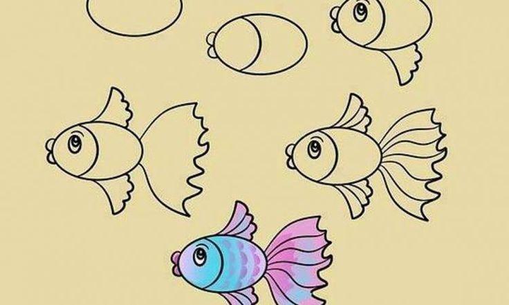Apprendre à dessiner aux enfants, étape par étape! 17 animaux faciles à dessiner à partir d'ovales!