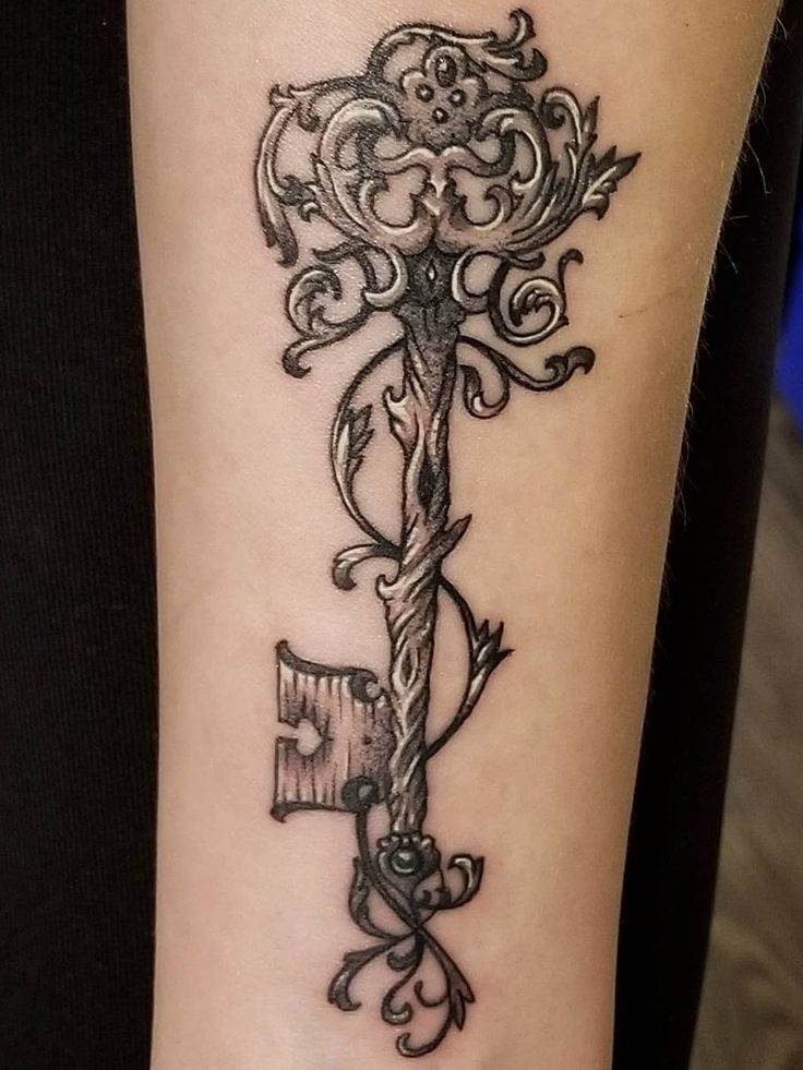 Wooden Skeleton Key Tattoo Skeleton Key Tattoo Key Tattoo Designs Small Key Tattoos