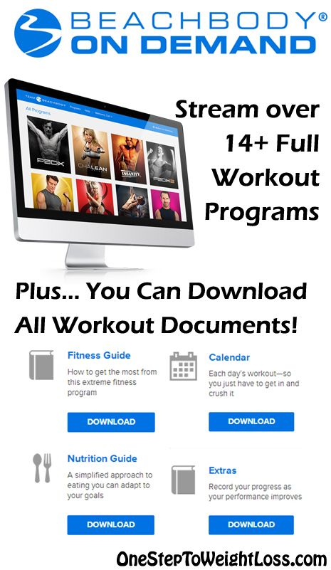 It's not just about having workouts online with Beachbody on Demand. You also have access to the Nutrition Guides, Calendars, and other tools you need to succeed on your weight loss journey! Learn more here: http://www.tipstoloseweightblog.com/weight-loss/stream-full-workouts-online-beachbody-on-demand