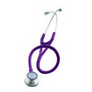 """Littmann Cardiology Stethoscope, 27"""" L, Plum, Latex-Free, Soft Sealing Eartip Manufacturer #: 3135"""