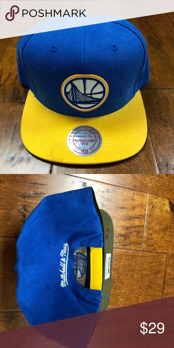 Golden State Warriors SnapBack Golden State Warriors SnapBack Team Colors one size fits all Mitchell & Ness Accessories Hats