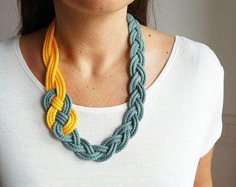 BRAIDED NECKLACESailor KnotNautical StyleBlue Navy by art2dress