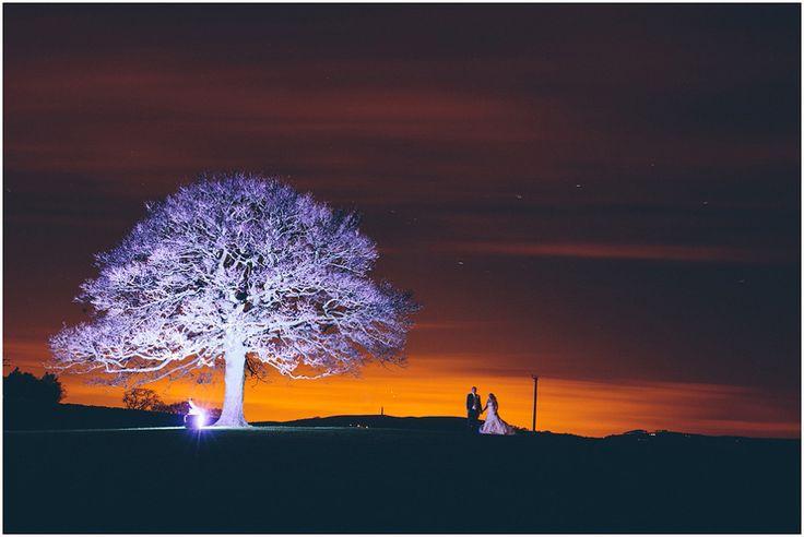 Heaton House Farm Wedding Venue, Cheshire, The Crawleys Photography, cgweddings, bride and groom, sunset, sycamore tree, love