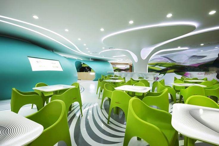 Karim Rashid has designed a food court named Amoje Food Capital for the Lotte Department Store in Seoul, South Korea.