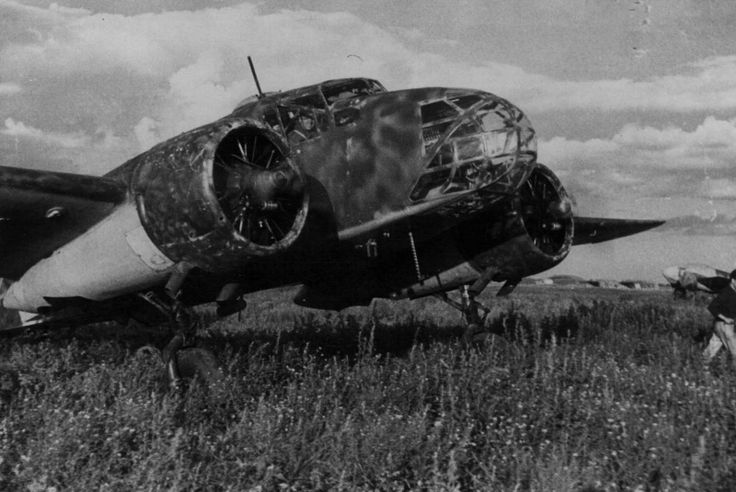 Italian Caproni bomber reconnaissance Ca.311M Stalin airport