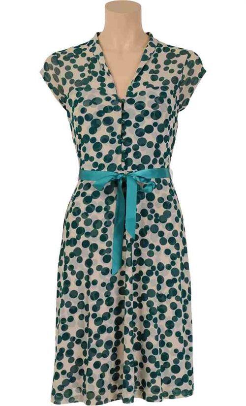 Køb skøn King Louie dress Fizzy kjole. grøn-hvid. fri lev