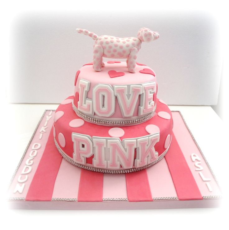 Victoria Secret Pink Birthday Cake