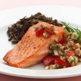 Pan-Seared Salmon with Fennel & Dill Salsa Recipe