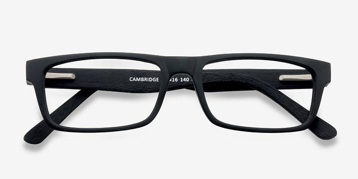 Cambridge | Black Wood Texture Eyeglasses | EyeBuyDirect