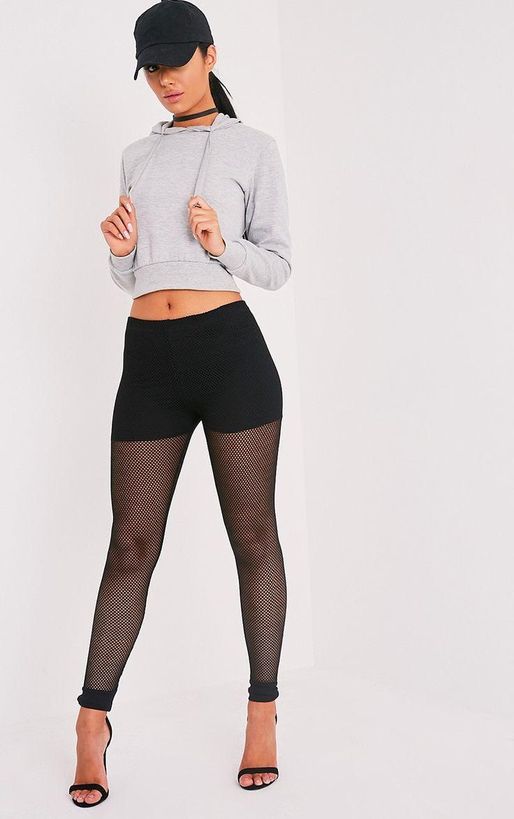 Andrea Black Fishnet Leggings Image 1