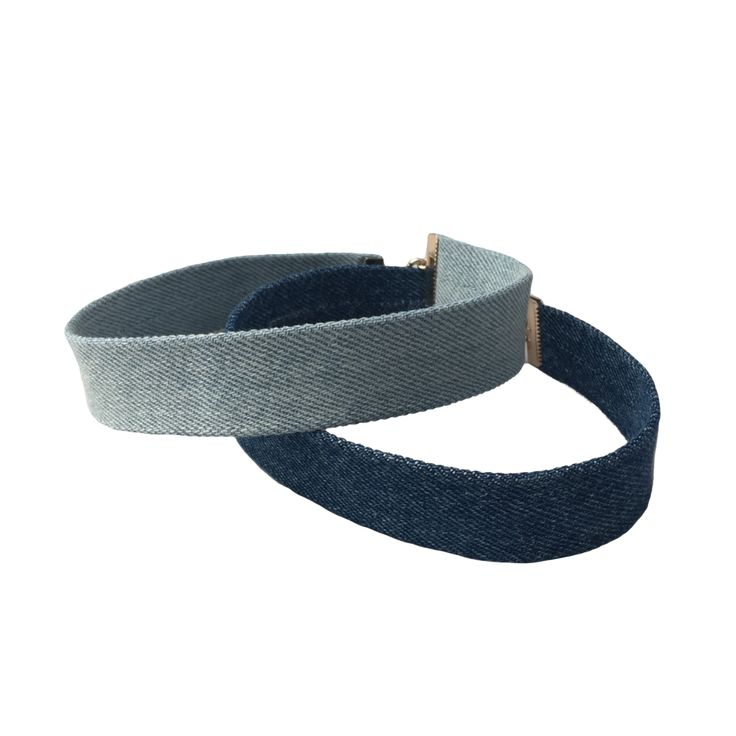 Brooklyn & Bailey Denim Chokers 2-Pack