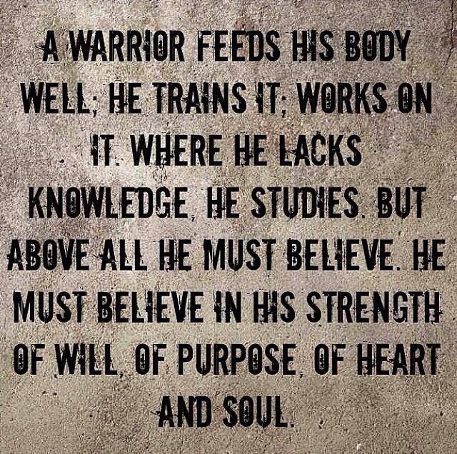Be a warrior! Don't rely on quick fixes, tummy tucks, surgeries, or pills.....let it come from your heart and soul!