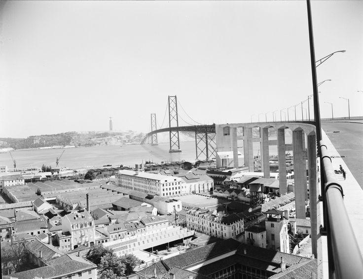 (PG) Ponte 25 de Abril, faz ligação entre a margem norte com a margem sul.