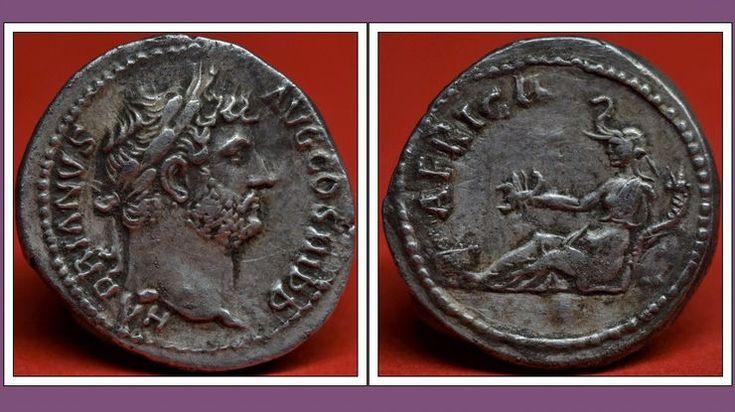 RARE Silver Denarius of Hadrian