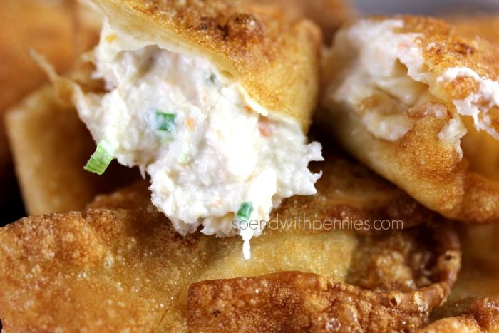 Crab Rangoon (Crab & Cream Cheese filled Crispy Wontons) Love it? Pin it to SAVE it! Follow Spend With Pennies on Pinterest for more great recipes! These are super easy to put together and taste amazing! A simple mixture of crab, cream cheese and..