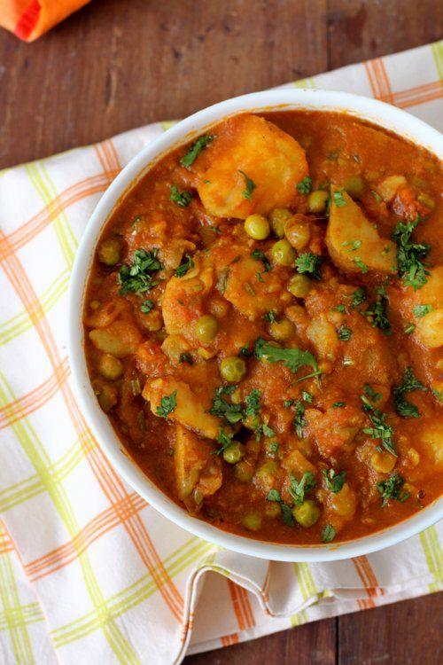 Banarasi Aloo Matar Sabji - Indian food, Andhra recipes and Global cuisine inspired cooking