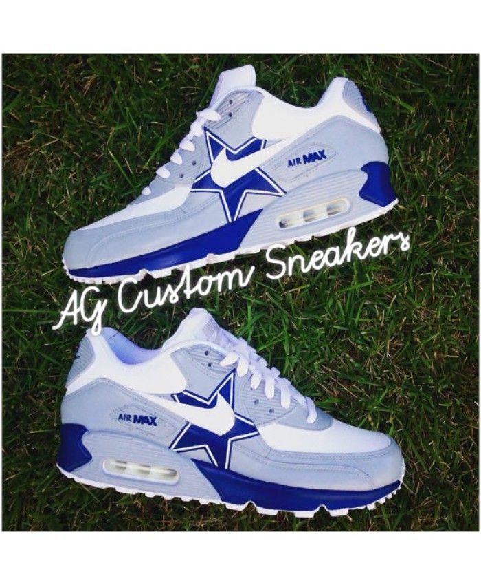 9ae22aad7b83ee Custom Dallas Cowboys Air Max 90 Sneaker