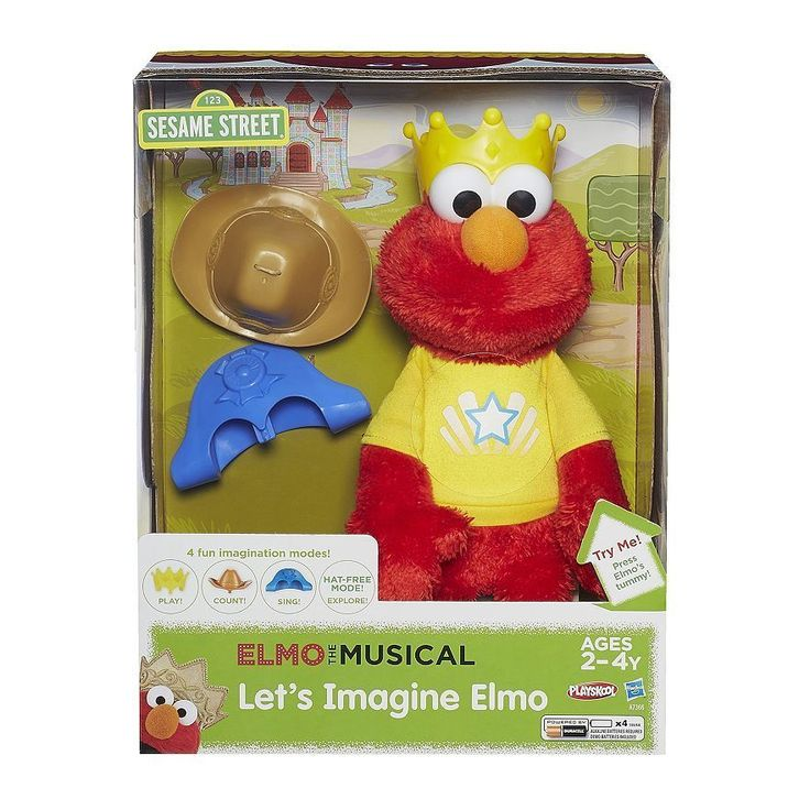 Playskool Sesame Street Let's Imagine Talking Elmo Toy by Hasbro NIB #HasbroPlayskool