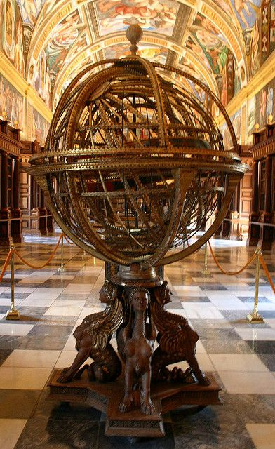Old Globe in the Library at El Escorial ~ Madrid Spain