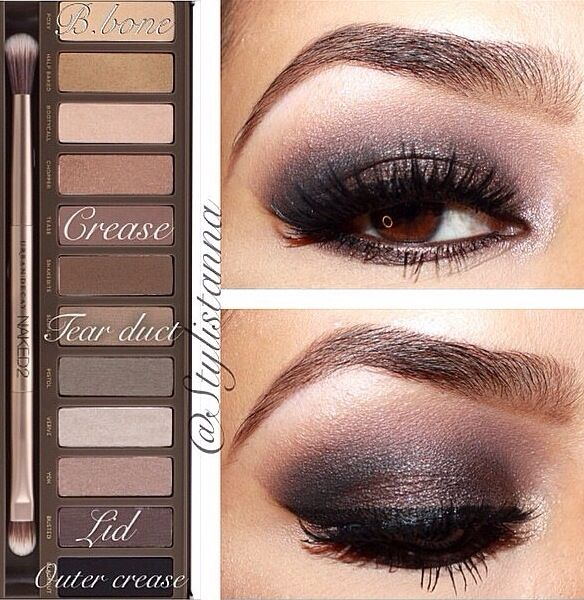 Naked 2 Palette Tutorial