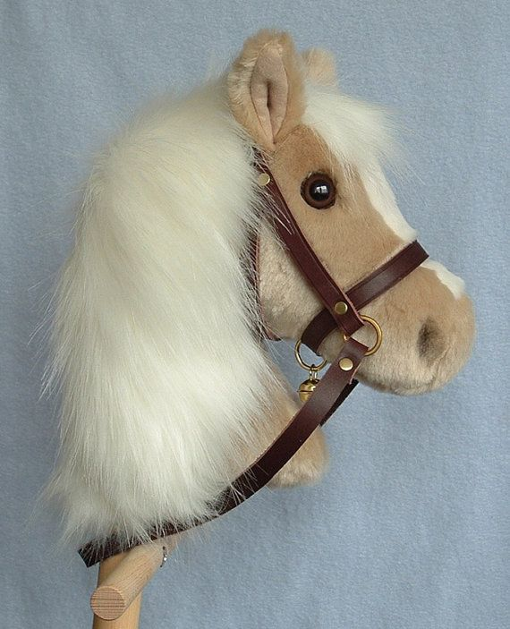 Hobby horse stick horse Palomino plush. Top by AdorablePonies