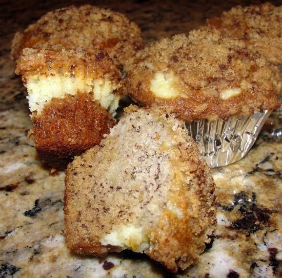 Banana Cream Cheese Muffins With Crumb Topping   Recipe