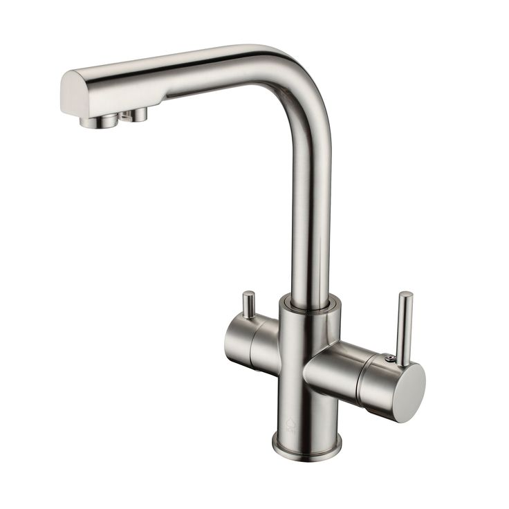 BAI 0664 Kitchen Faucet / Integrated Drinking Water Faucet / Two In One / Brushed Nickel Finish