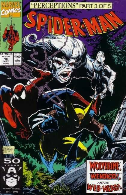 "The Wendigo is a real Canadian legend. First seen in Marvel in a 70s issue of ""Hulk,"" a man can become a Wendigo if he eats human flesh (Donner party on, dude!). If I recall right, Hulk was about to smash a Wendigo when Wolverine made his debut."
