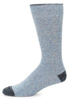 Rib-Knit Merino Wool Socks