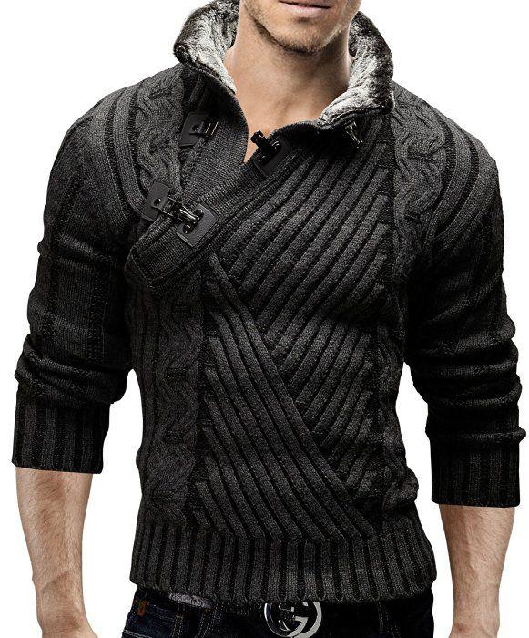 Merish - Suéter para hombre, talla s, color antracita