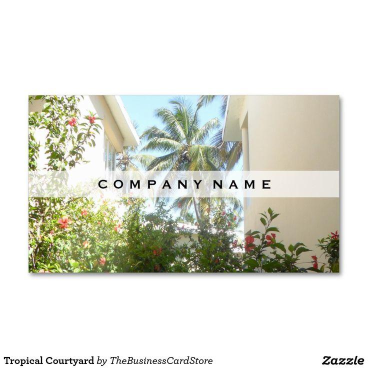 Tropical Courtyard Business Card