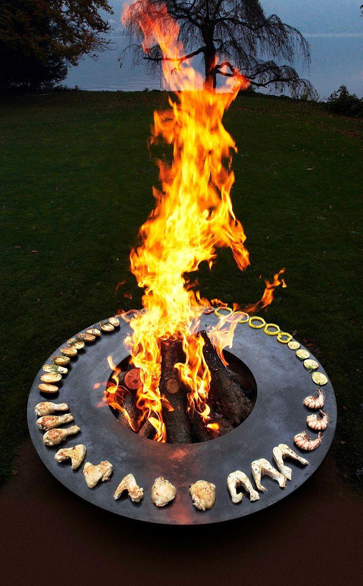 Solch Ein Feuerring Ist Der Hingucker In Ihrem Garten Und Auf Ihrer Nachsten Gartenparty Ware Das Etwas Fur Sie Feuerring Feuerstelle Garten Hintergarten