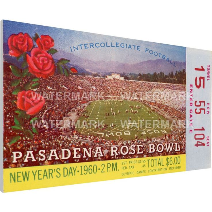 That's My Ticket Ohio State Buckeyes 1960 Rose Bowl Canvas Mega Ticket, Team