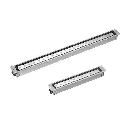 (U4) Inground adjustable  linear LED uplight (eliptical beam), Versalux Ares Cielo LED